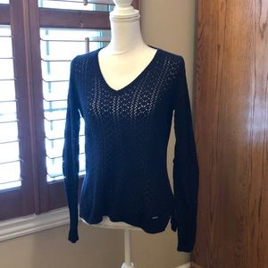 Women's Gilly Hicks Navy Vneck sweater size M